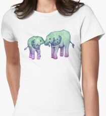 Baby Elephant Love Women's Fitted T-Shirt