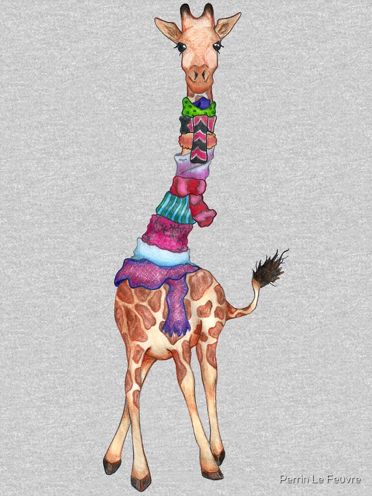Cold Outside - Cute Giraffe Illustration by PerrinLeFeuvre