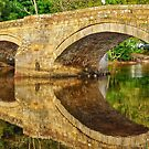 Reflections of pooley bridge by snapitnc