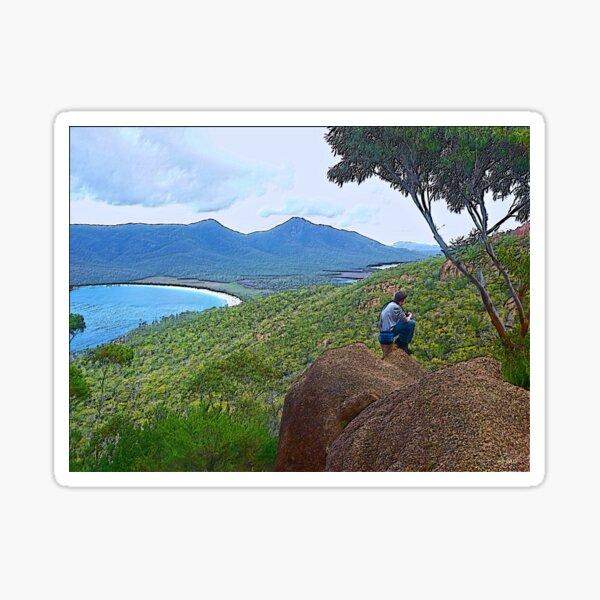 FREYCINET ~ SCENES ~ SCENERY ~ Tourist 2 by tasmanianartist Sticker