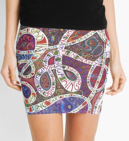 Our Father (The Lord's Prayer) Mini Skirt