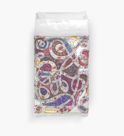 Our Father (The Lord's Prayer) Duvet Cover