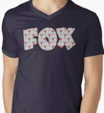 Fox Pattern on Sage  T-Shirt