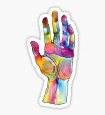 colorful hand trippy stickers Sticker