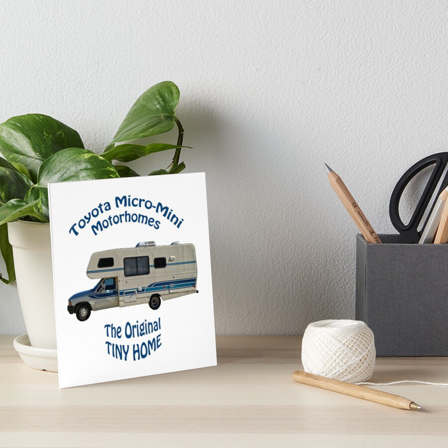 Toyota Motorhome The Original Tiny Home Art Board By Arthur Butch Petty