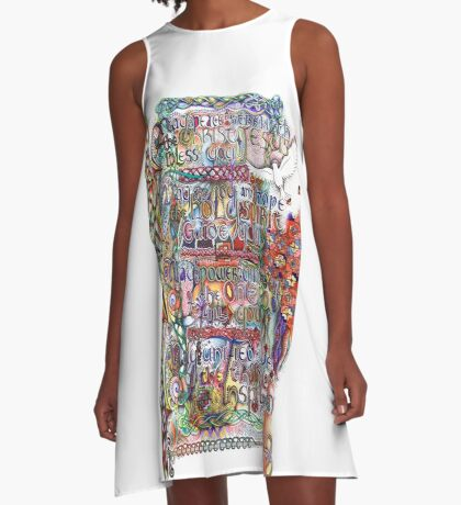 Peace and Strength A-Line Dress