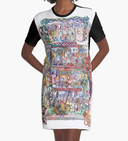 Peace and Strength Graphic T-Shirt Dress