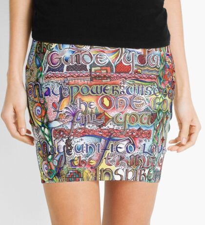 Peace and Strength Mini Skirt