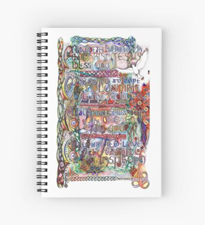 Peace and Strength Spiral Notebook