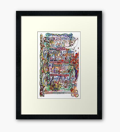 Peace and Strength Framed Print