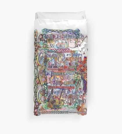 Peace and Strength Duvet Cover
