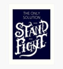 The only solution Art Print