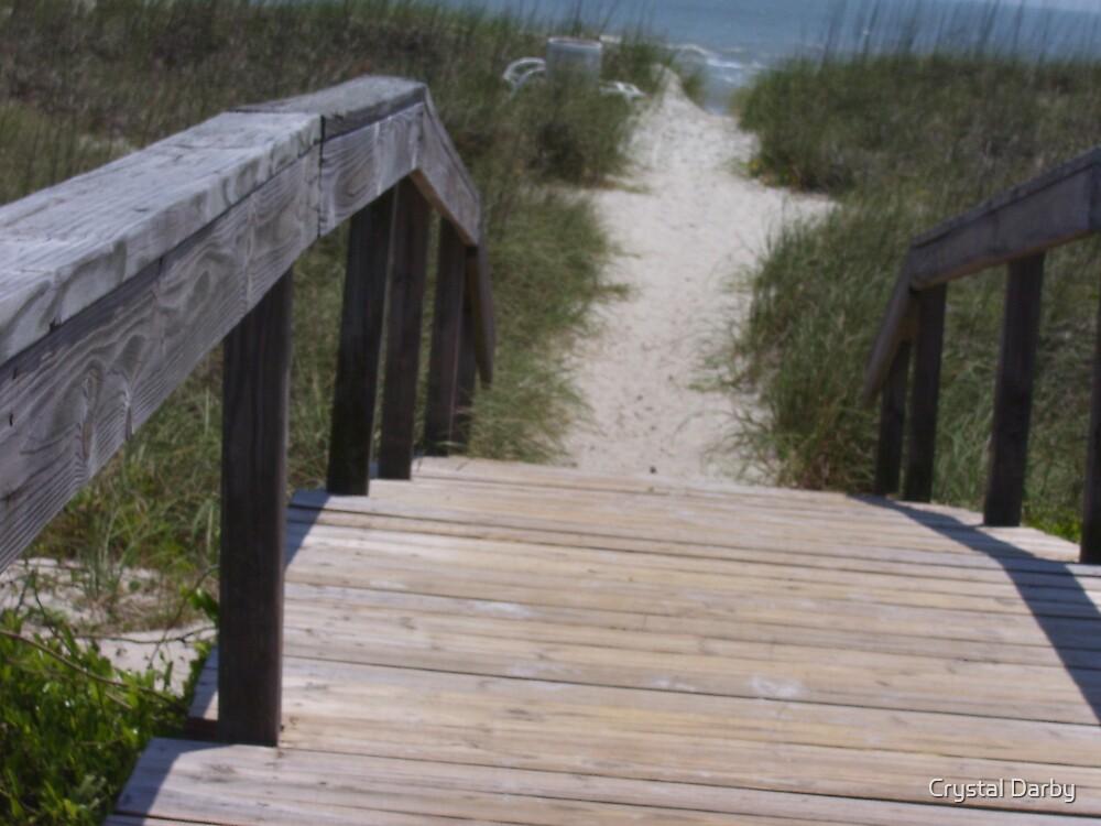beach walk by Crystal Darby