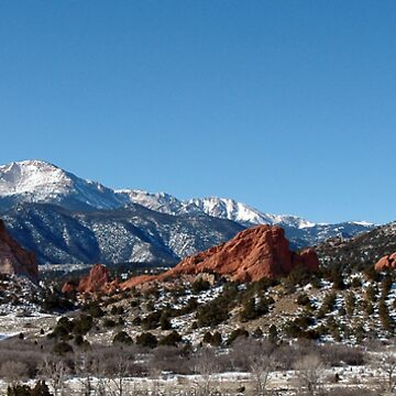 Garden of the Gods and Pikes Peak by ritesideup