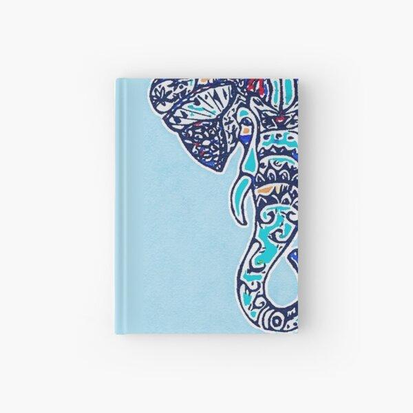 Digital Elephant Illustration Hardcover Journal