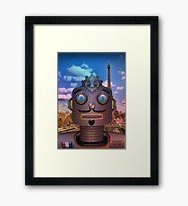 French Robot Policeman Framed Print