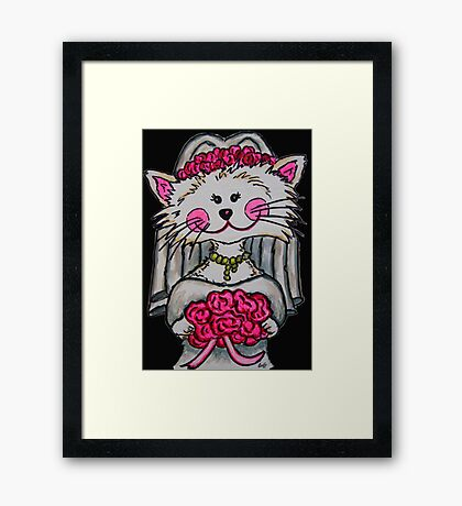 Bride To Be Kitty Framed Print