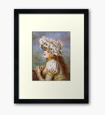 Auguste Renoir - Girl In A Lace Hat 1891 Framed Print