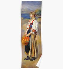 Auguste Renoir - Girl With A Basket Of Oranges Poster