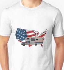 Camp America Toyota Motorhome Flag T-Shirt