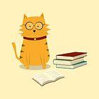 Nerdy Cat by cartoonbeing