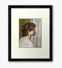 Auguste Renoir - Head Of A Young Woman Framed Print