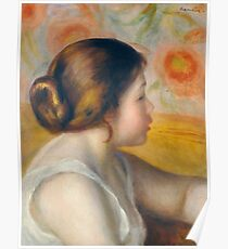 Auguste Renoir - Head Of A Young Woman, 1890 Poster