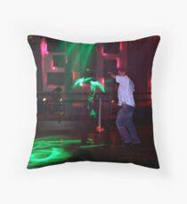 Green Dancer Throw Pillow