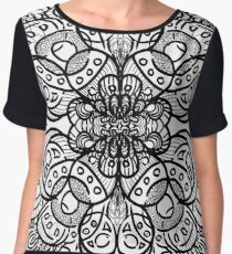 Square Inked Mandala Women's Chiffon Top