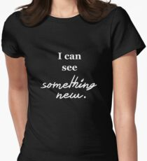Tokio Hotel, Something New (white font) Womens Fitted T-Shirt