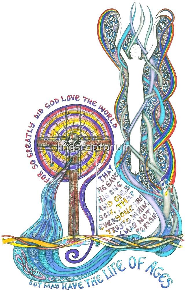 So Greatly Did God Love by lindscriptorium