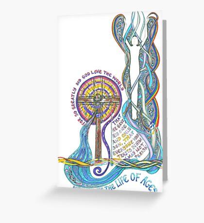 So Greatly Did God Love Greeting Card