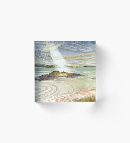 St. Cuthbert's Island, Holy Island Acrylic Block
