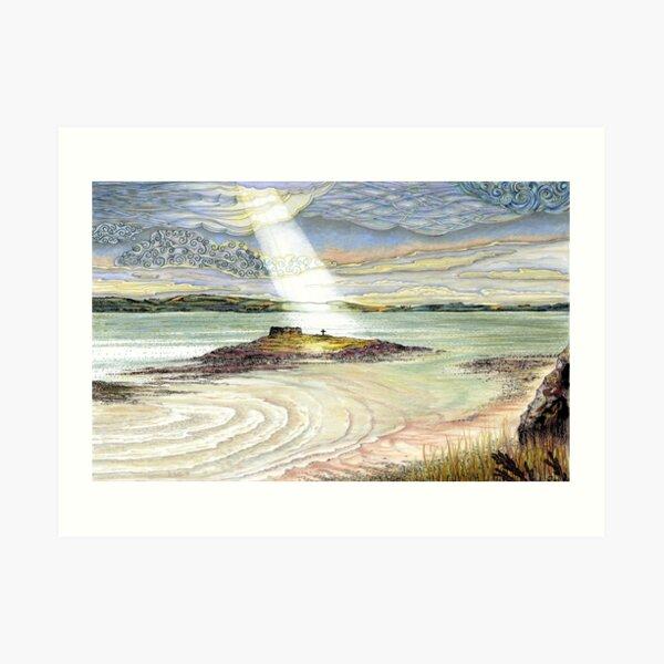 St. Cuthbert's Island, Holy Island Art Print