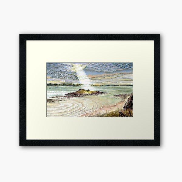 St. Cuthbert's Island, Holy Island Framed Art Print
