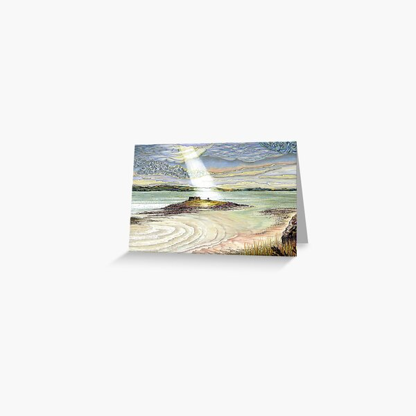 St. Cuthbert's Island, Holy Island Greeting Card