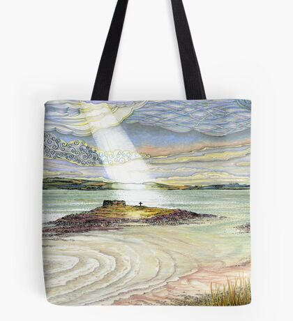 St. Cuthbert's Island, Holy Island Tote Bag