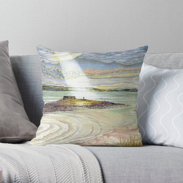 St. Cuthbert's Island, Holy Island Throw Pillow