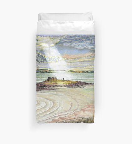 St. Cuthbert's Island, Holy Island Duvet Cover