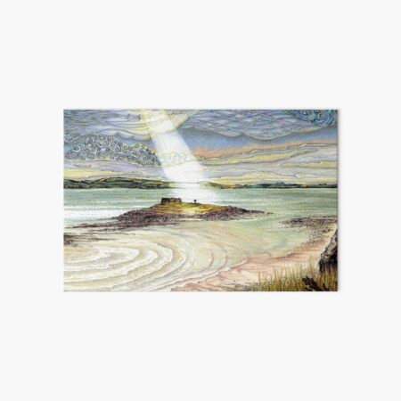 St. Cuthbert's Island, Holy Island Art Board Print