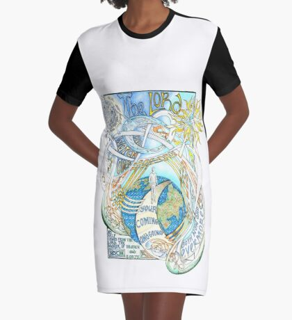 The Lord Will Watch Over You Graphic T-Shirt Dress
