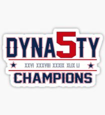 New England Dynasty - 5x Champions Sticker