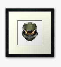 Halo Master Chief Poly Framed Print