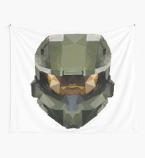 Halo Master Chief Poly Wall Tapestry