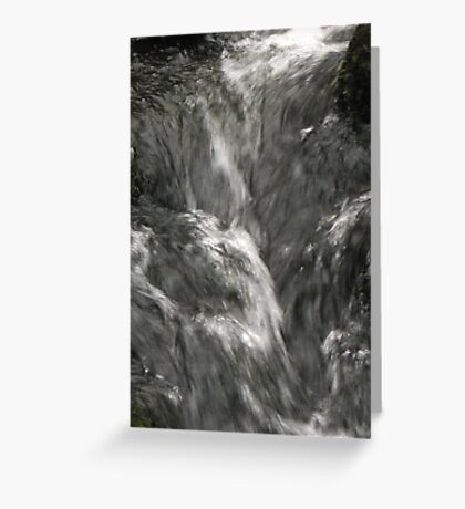 Silver flow Greeting Card