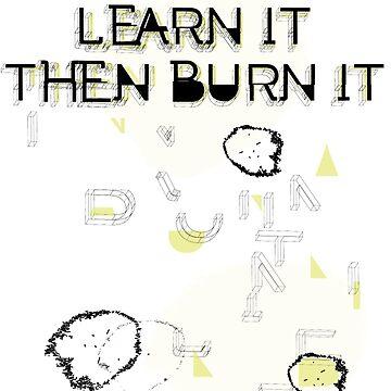 Learn it then burn it by Elang