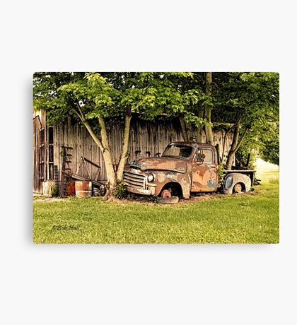 """Old Clunker, The Side View""... prints and products Canvas Print"