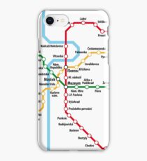Prague metro network iPhone Case/Skin