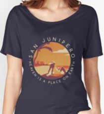 Black Mirror: San Junipero - Vintage Style Women's Relaxed Fit T-Shirt