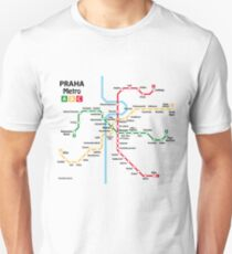 Prague metro network Unisex T-Shirt